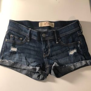 Dark wash Hollister jean shorts
